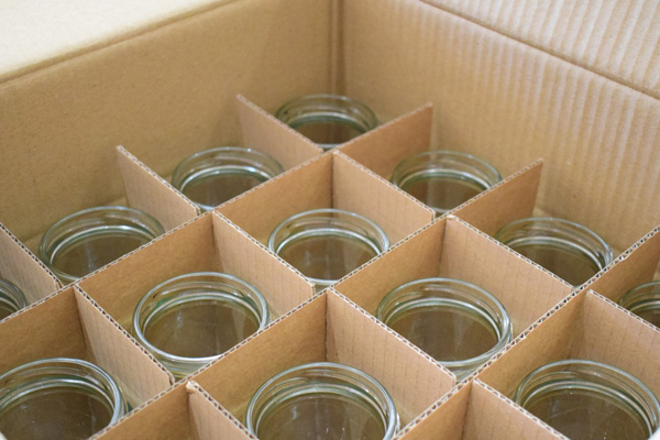 jar packing in card dividers