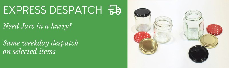 Jam Jars for sale with quick delivery. Our express despatch service gets you jars fast