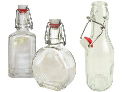 Love jam jars | Swing Top Bottles Robust glass bottles with swing top clips - lucca costalata