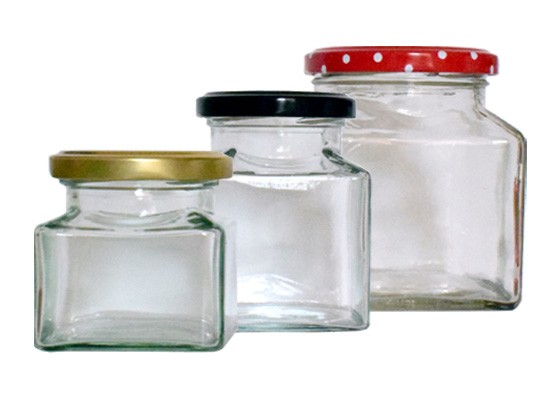 Square Jam Jars