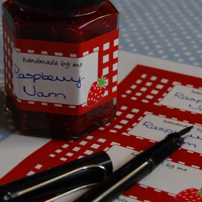 Love jam jars | Jar & Lid Labels Self Adhesive labels for your jars, bottles & lids