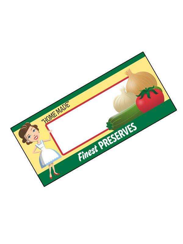 Jam Jar Labels Vintage Vegetables 80x35mm