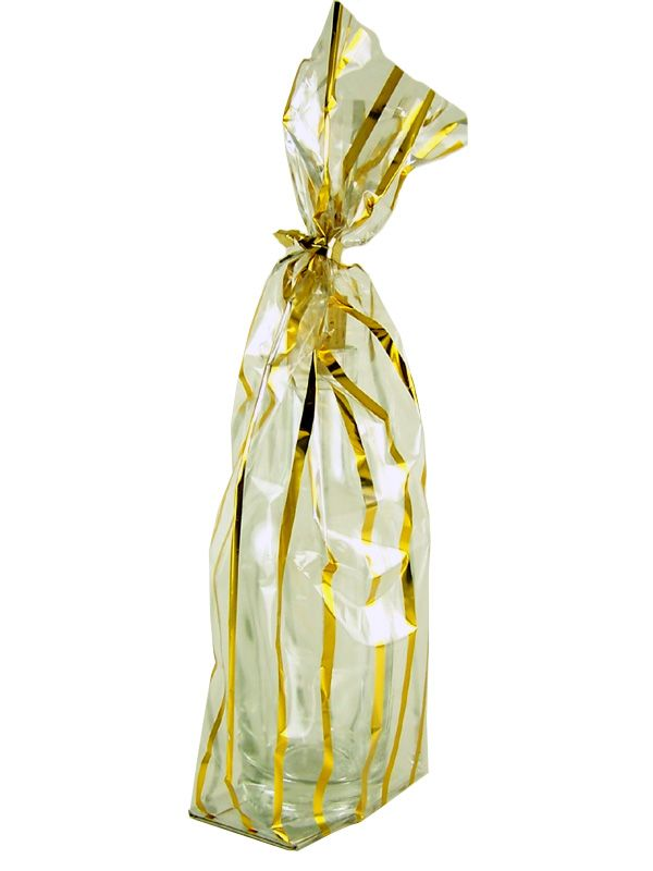 Gift Bag Gold Stripe (5)