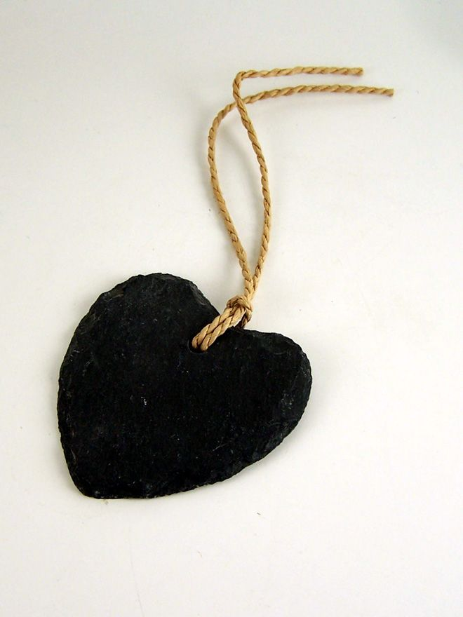 Slate Blackboard Heart Tag