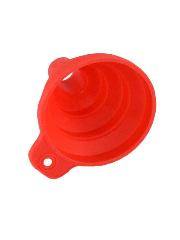 Jar and Bottle Mini Funnel Collapsible Red