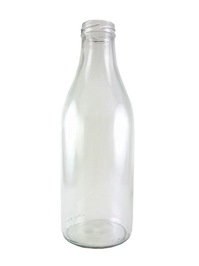 Glass Bevanto Milk Bottle 1000ml x15