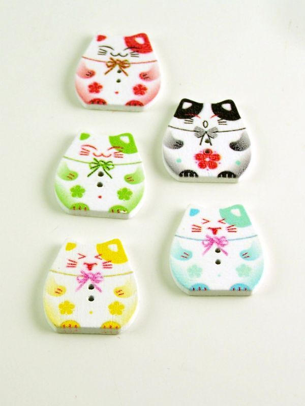 Colourful Kitten Buttons