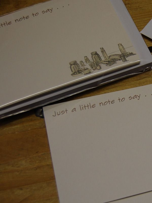 Notecard set: Just a little note to say . . . 2