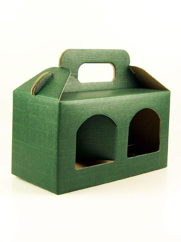 Carry Box 2 x 8oz jars Green