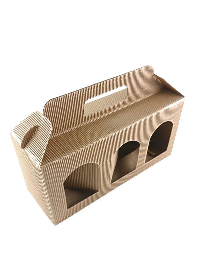 Carry Box 3 x 12oz jars Kraft