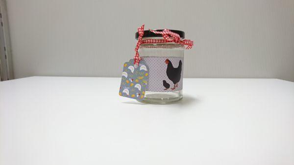 Jar Wraps - Black Spotty Hen DISC 2