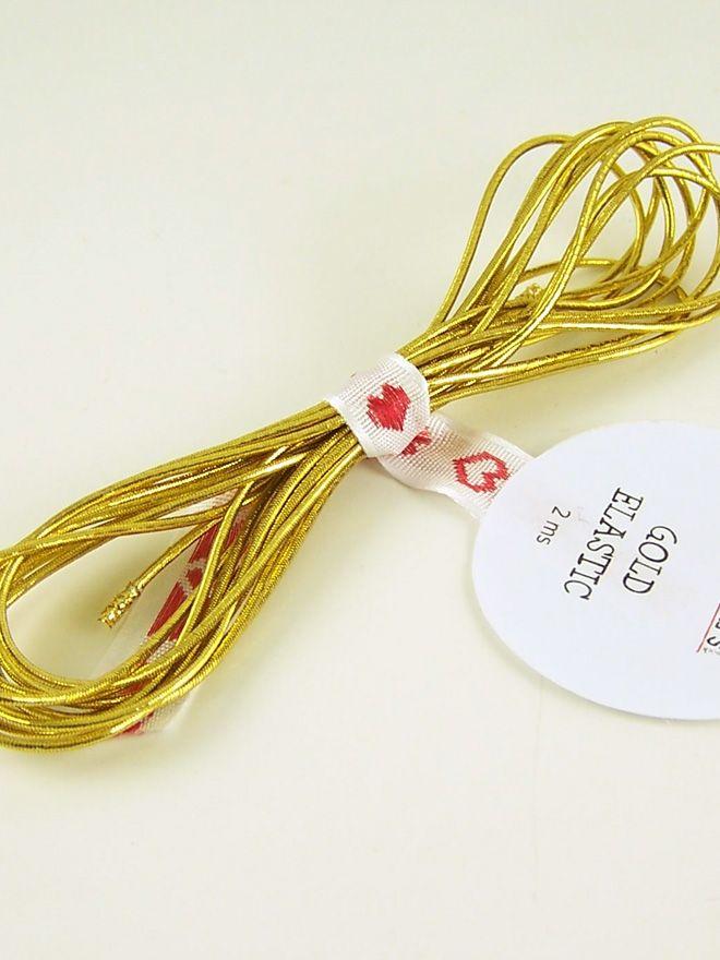 Elastic Cord Gold 2m