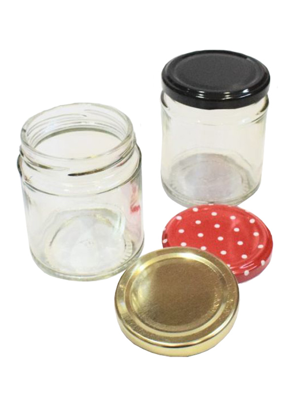 Jam Jars Round Glass 190ml