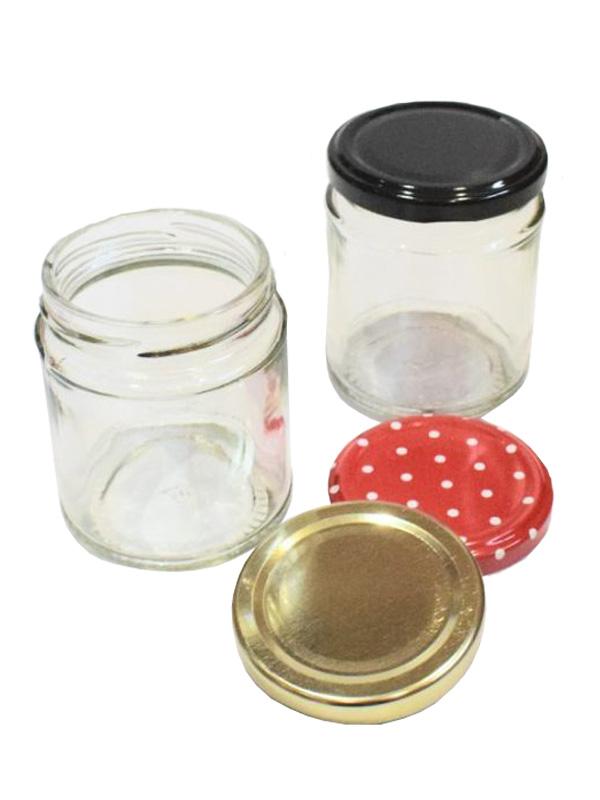 Jam Jars Round Glass 190ml 1