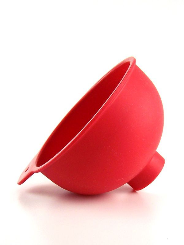 Jam Jar Funnel Red Silicone 3