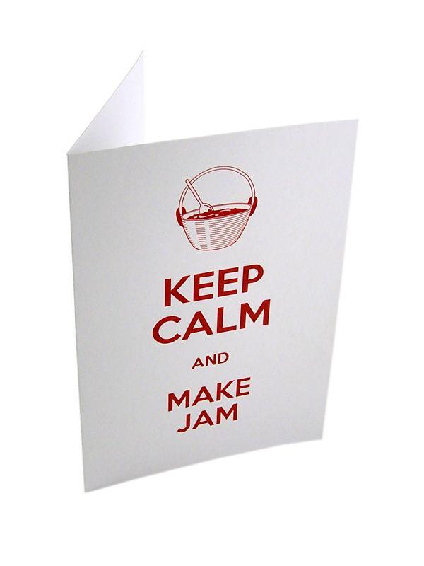 Keep Calm and Make Jam Card