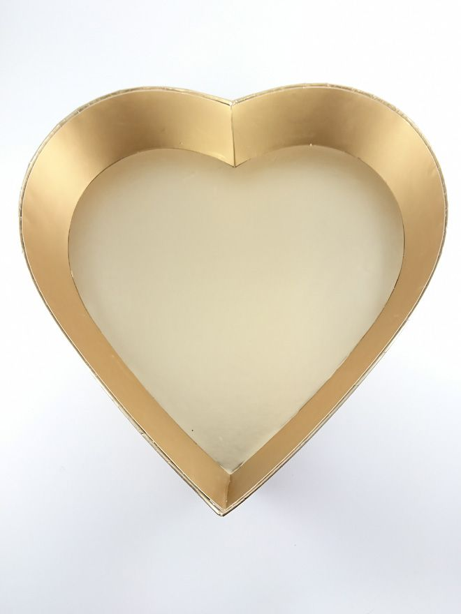 Gold Heart Gift Tray 12'