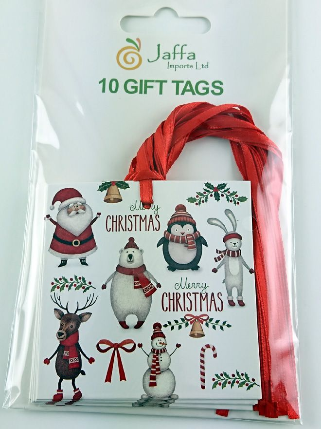 Gift Tag Merry Christmas 70x70mm (10)