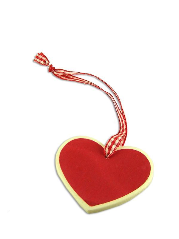 Heart Shaped Wooden Tags with Ribbon