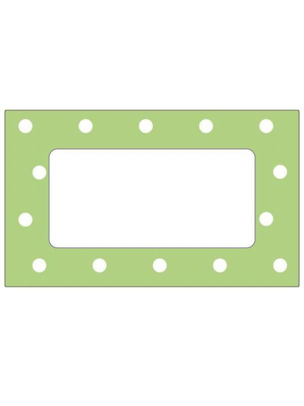 Pale Green Spot Labels 63x38mm