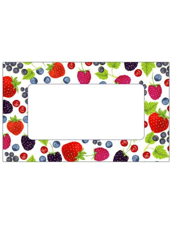 Mixed Berries Labels 63x38mm