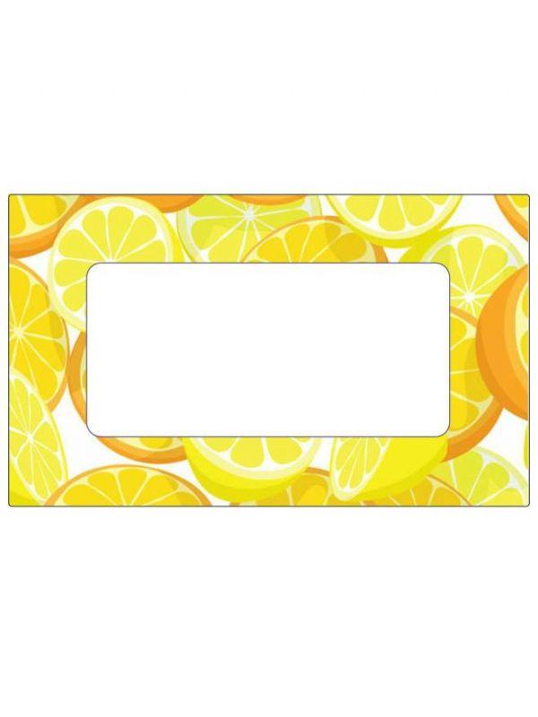 Orange & Lemon Labels 63x38mm