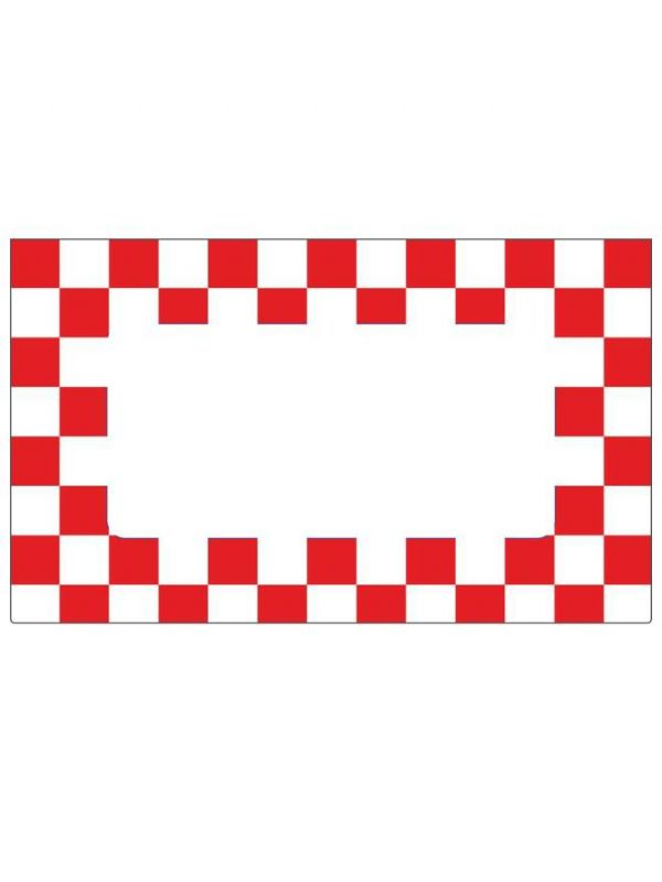 Red Gingham Labels 63x38mm