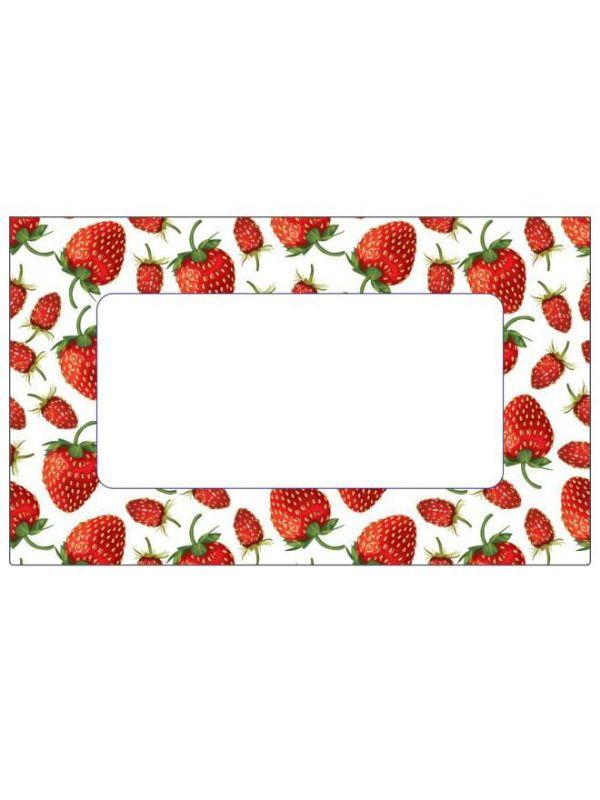 Strawberry Jar Labels 63x38mm