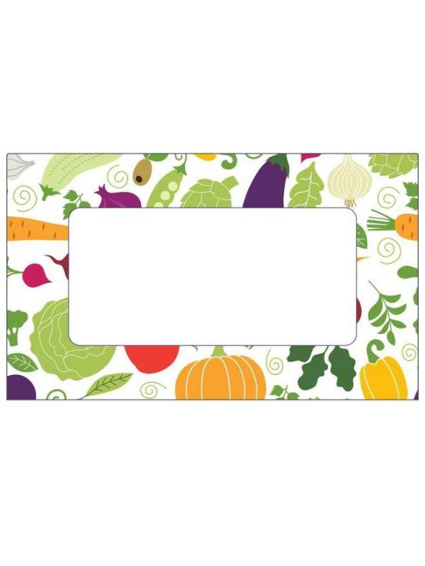 Summer Vegetables Labels 63x38mm