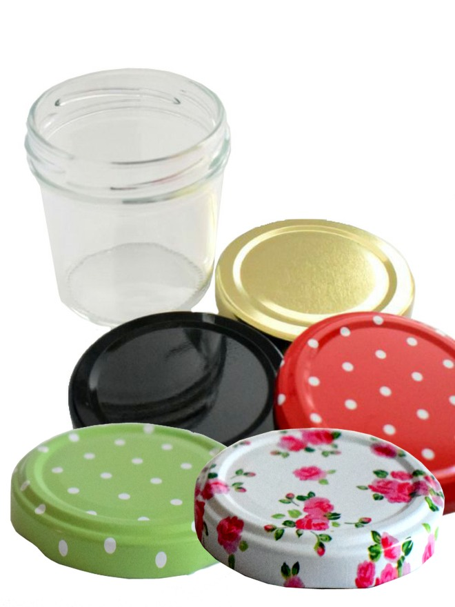 Jam Jars Round Glass Bonta 120ml 2