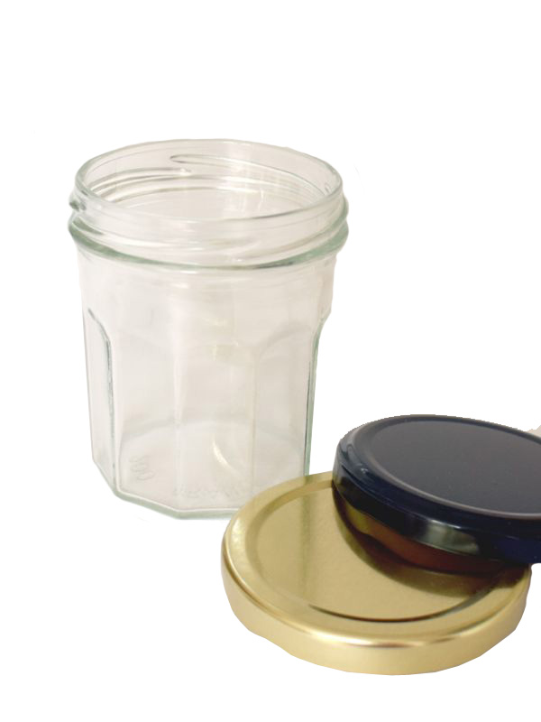 Jam Jars Facetted Glass 200ml 1