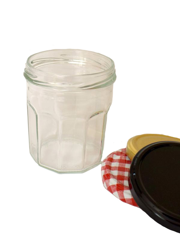 Jam Jars Facetted Glass 324ml 1