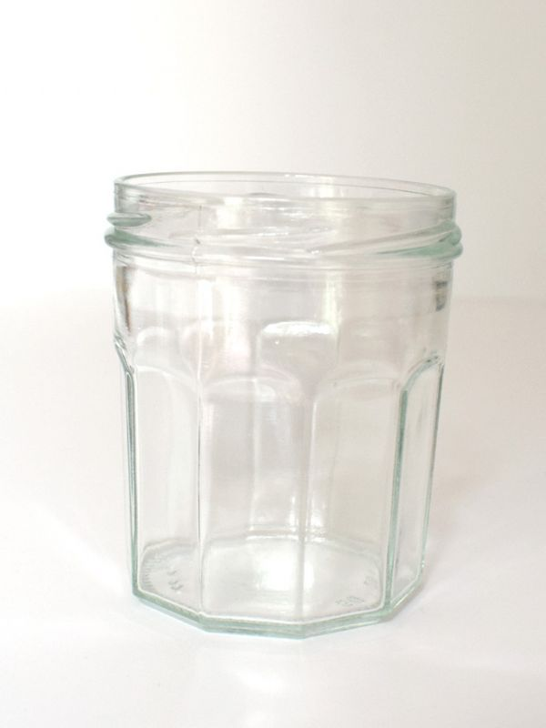 Jam Jars Facetted Glass 324ml 2