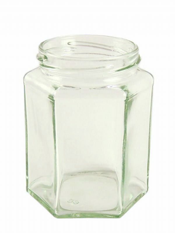 Jam Jars Hexagonal Glass 280ml (x2376)