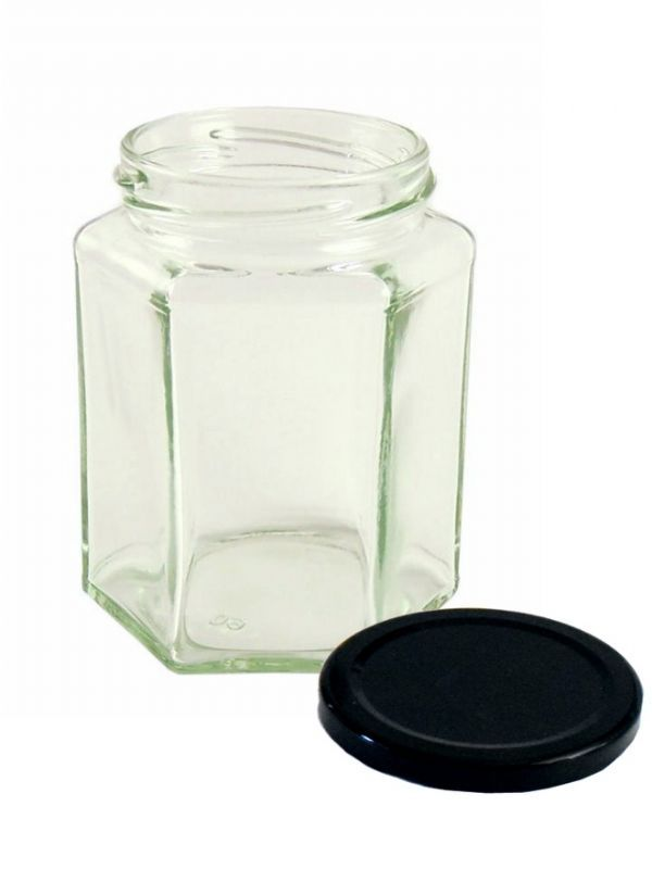 Jam Jars Hexagonal Glass 280ml 5