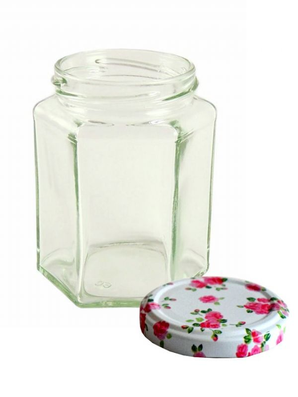 Jam Jars Hexagonal Glass 280ml 4