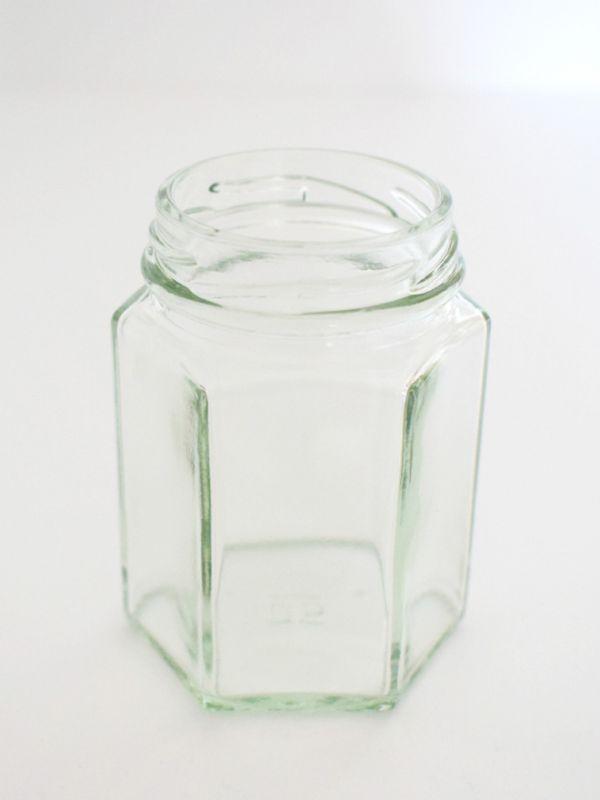 Jam Jars Hexagonal Glass 110ml (x50) without lids