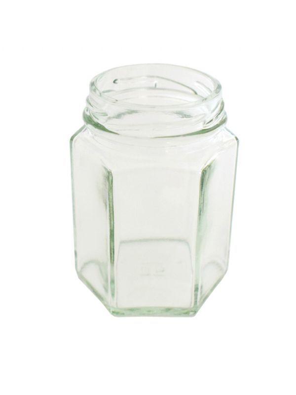 Jam Jars Hexagonal Glass 110ml 1
