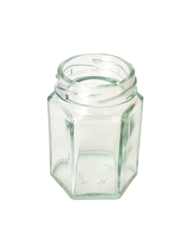 Jam Jars Hexagonal Glass 55ml 2