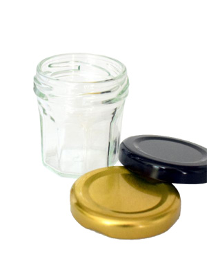 Jam Jar Facetted Glass 46ml