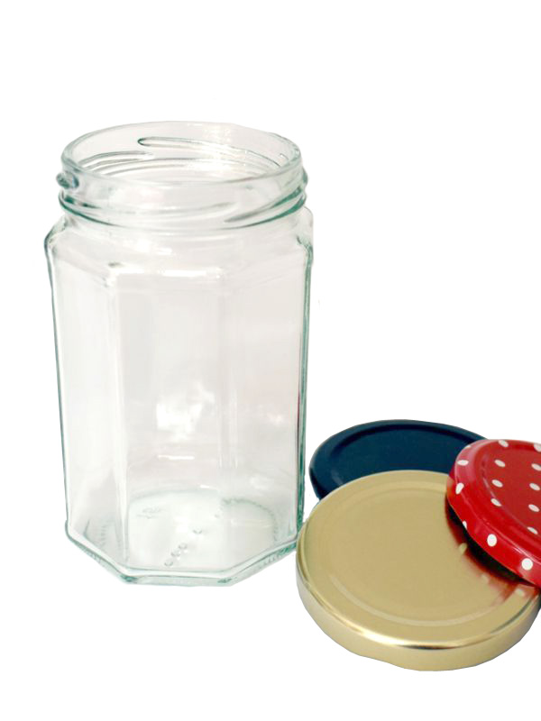 Jam Jars Octagonal Glass 320ml