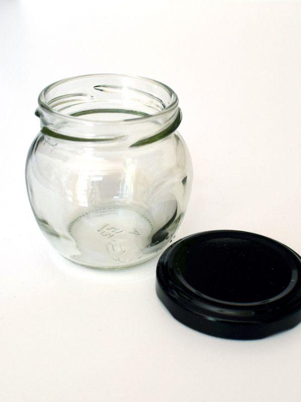 Jam Jars Orcio Glass 212ml (x128) Black Lids 1