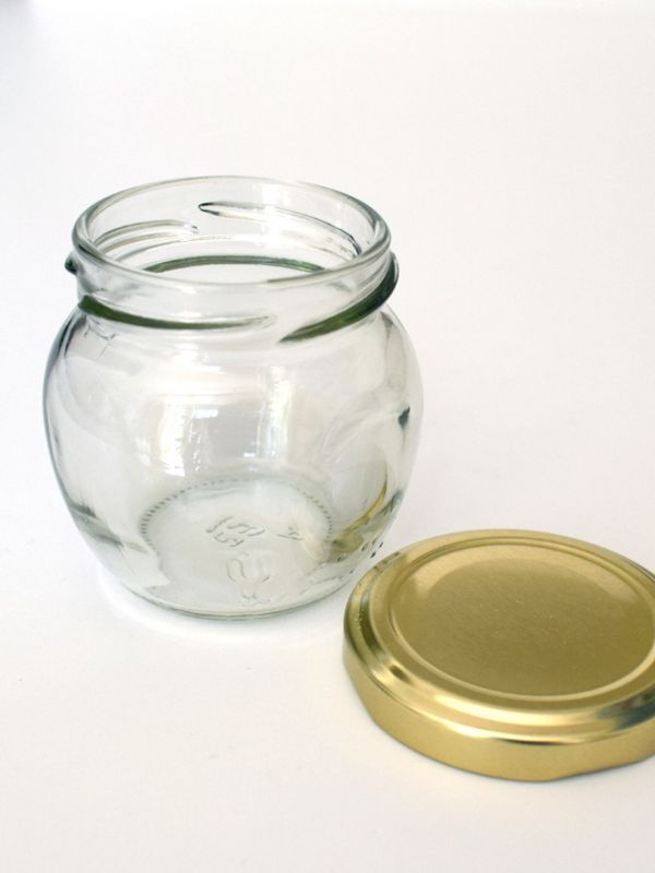 Jam Jars Orcio Glass 212ml (x32) Gold Lids 1