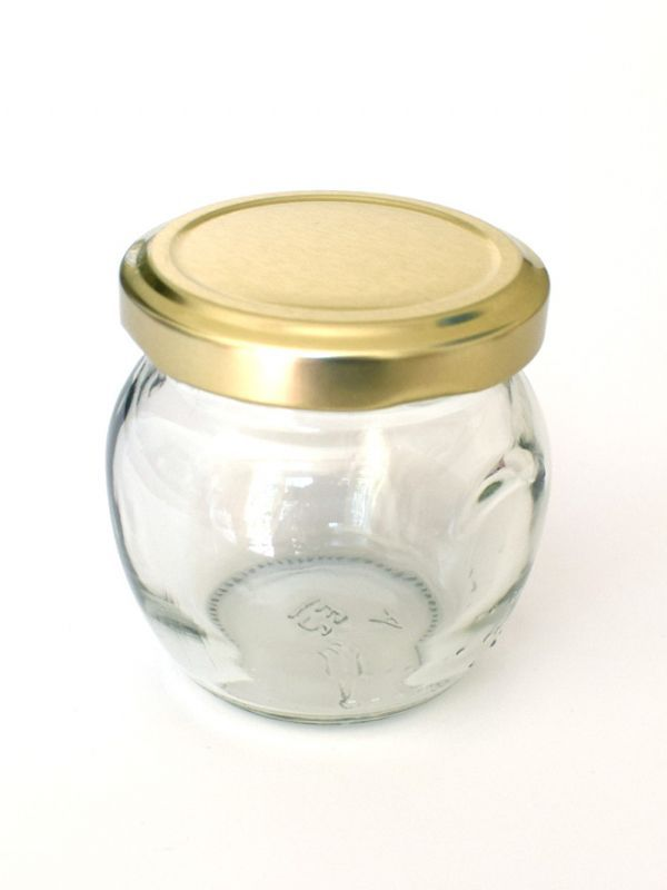 Jam Jars Orcio Glass 212ml (x32) Gold Lids 2