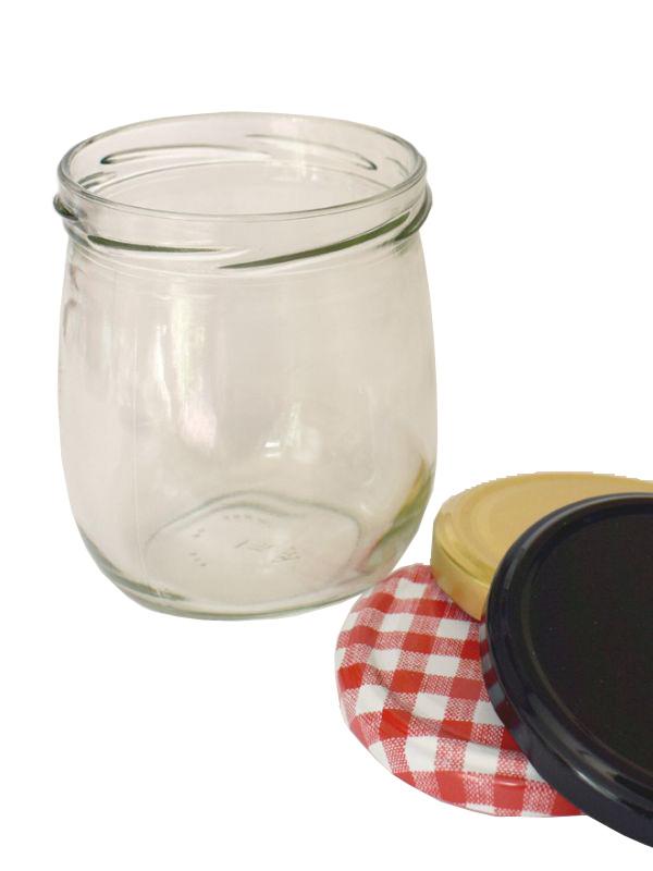 Jam Jars Round Pera Glass 425ml 1