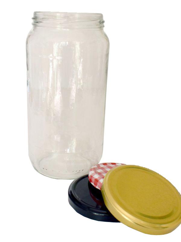 Jam Jars Round Glass 1062ml 1