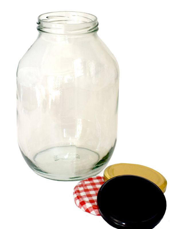 Jar Round Glass Half Gallon 2200ml 1