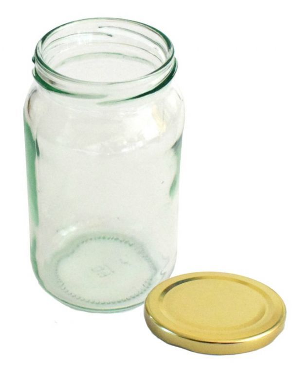 Jam Jars Round Glass 370ml 1lb 6