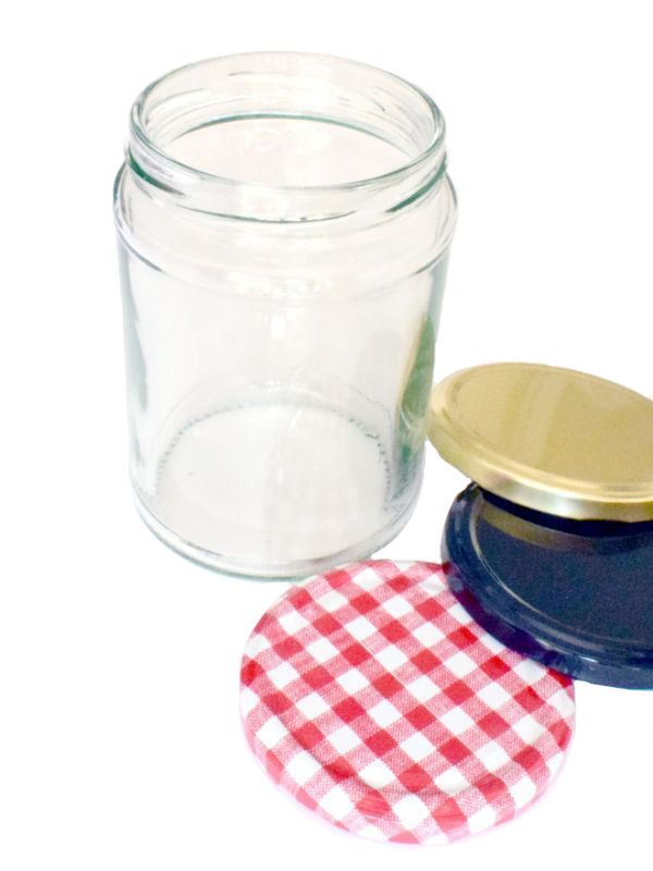 Jam Jars Round Glass 500ml 1