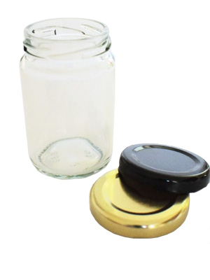 Jam Jars Round Glass 105ml